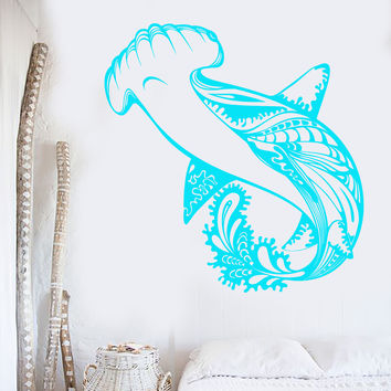 Vinyl Wall Decal Shark Marine Fish Predator Sea Style Stickers Unique Gift (927ig)