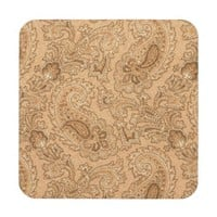brown paisley pattern