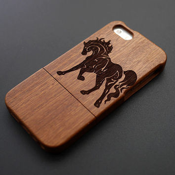 Buy 1 Get 1 Free - Horse Wood Case for iPhone 5 - Personalized Wood iPhone 5 Case - Custom Wood iPhone5 Case - Cool iPhone5 Case Wood - Gift