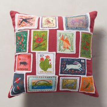 Becca Stadtlander Stamped Curiosity Pillow