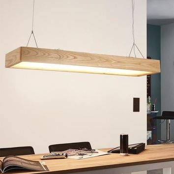 Pendant Wooden and Acrylic Led Shades Linear Lamp - Free Shipping