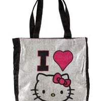 "Tote Bag - Hello Kitty - ""I Love"" Sequin"