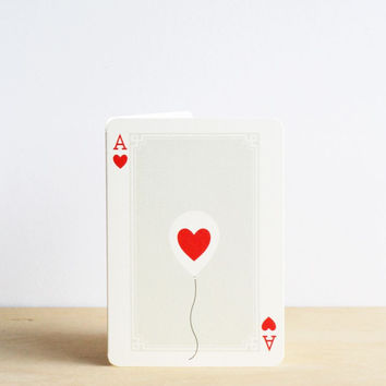 I Ended Up Here | Ace of Hearts Card