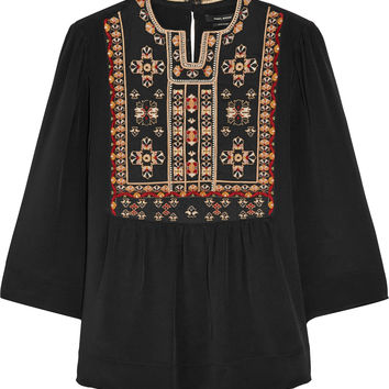 Isabel Marant - Roma embroidered silk blouse