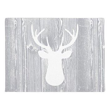 Autumn Fall welcome door mat doormat Deer Head Grey Wood Pattern Rubber Floor Mats for Office Funny Welcome Mats Indoor Home Decorative Front s AT_76_7