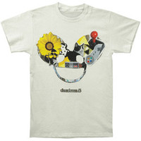 Deadmau5 Men's  nCollage Mau Head Slim Fit T-shirt White Rockabilia