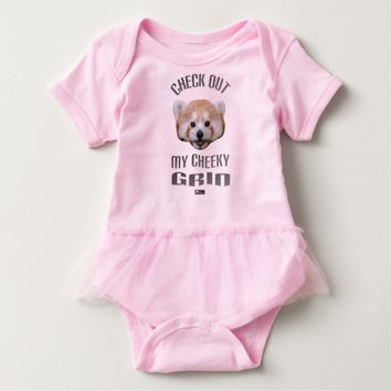 Cheeky Grin Baby Design by Kat Worth Baby Bodysuit