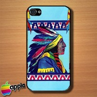Native American Indian Chief Custom iPhone 4 or 4S Case Cover