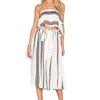 Lily Stripe Set in Ivory & Black Combo
