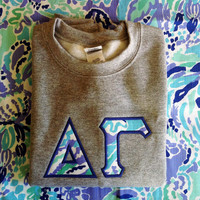 Customizable Greek or School Lilly Pulitzer Sweatshirt- Nice Ink