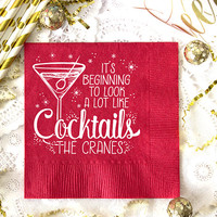 Christmas Napkins, Christmas Party, Cocktail Napkins, Holiday Decor, Personalized Napkins, Wedding Napkins, Drink Napkins, Paper Napkins
