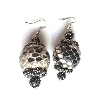 Python Ball Drop Earrings