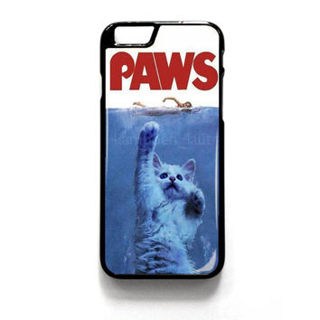 Paws Movie Parody Funny Cat Attack iPhone 4 4S 5 5S 5C 6 6 Plus , iPod 4 5  , Samsung Galaxy S3 S4 S5 Note 3 Note 4 , and HTC One X M7 M8 Case