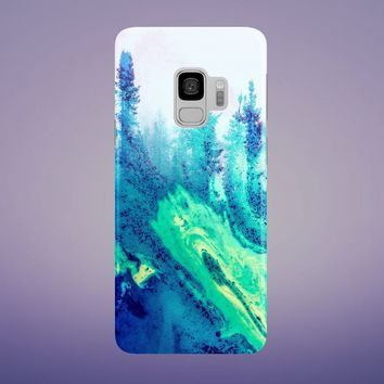 Blue Forest Phone Case for Apple iPhone, Samsung Galaxy, and Google Pixel