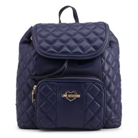 Love Moschino Blue Padded Leather Backpack
