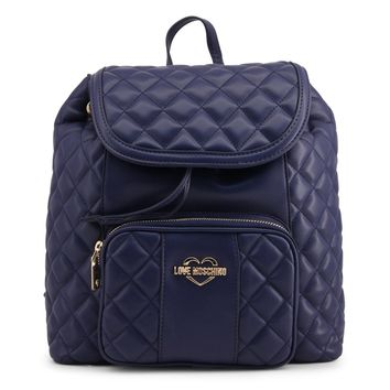 Love Moschino Blue Quilted Backpack