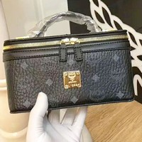 MCM 2018 counter models women's fashion exquisite high quality shoulder bag F-AGG-CZDL Black