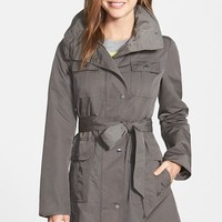 Women's Ellen Tracy Utility Trench Coat with Removable Hood,