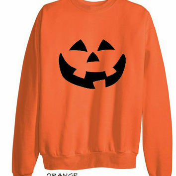 VINTAGE INSPIRED halloween jack o' lantern pumpkin sweat shirt