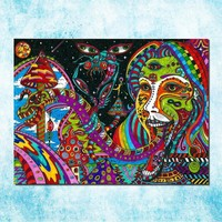 Trippy Silk & Canvas Prints - Multiple Sizes and Designs