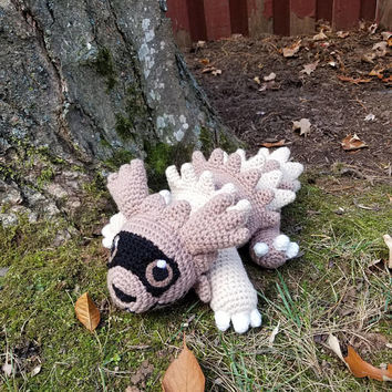 Pokemon Inspired: Zigzagoon Amigurumi (Crochet Plushie/Plush Toy) - MADE TO ORDER!