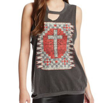Chaser Deconstructed Cross Muscle Tank