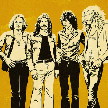 Led Zeppelin Band Classic Rock Poster