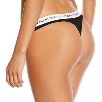 Tommy Hilfiger Fashion Sexy Women's Cotton Thong Underpants I
