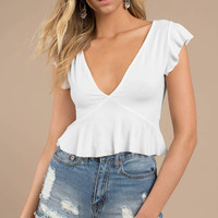 Anaya Plunging Crop Top