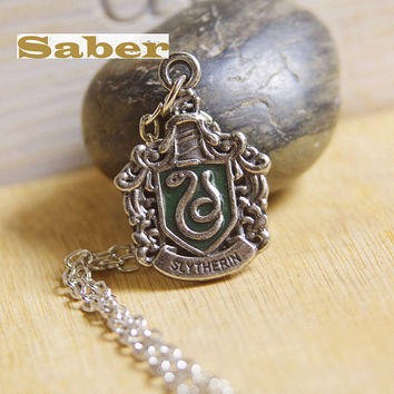 Harry Potter Metal Locket Slytherin Pendant Necklace F023