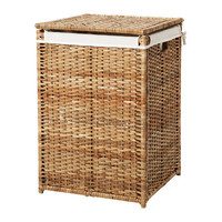 BRANÄS Laundry basket with lining - IKEA