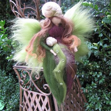 Needle Felted Wool fairy, nature fairy, Waldorf inspired fairy doll