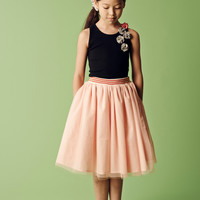Anais & I Lucas Anais Tulle Skirt in Blush SK10003 - Final Sale
