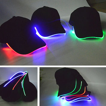 Unique Unisex LED Light Up Baseball Cap Gift