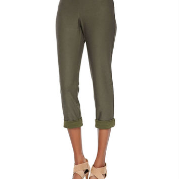 Washable Stretch-Crepe Ankle Pants,