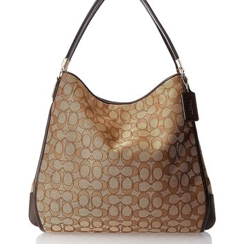 Coach Outline Signature Phoebe Shoulder Bag 36184