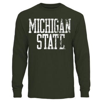 Michigan State Spartans Straight Out Long Sleeve T-Shirt – Green