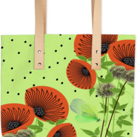 Vintage Wild Flowers Summer Fashion Tote Bag created by Pasion4Fashion | Print All Over Me