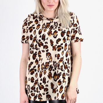 Wild for Leopard S/S Knit {Brown Mix}
