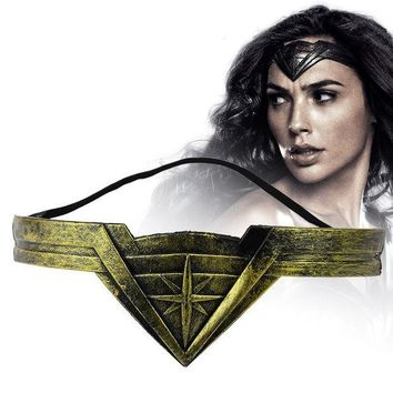 CREYONJ Classic DC Comic Marvel Movie Wonder Woman Headband Diana Prince Superheroine Cosplay Bronze Crown Headwear Headgear Jewelry