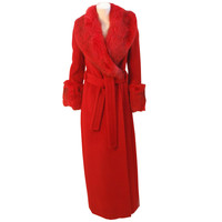 JAMES GALANOS full length maxi coat from the 1970s
