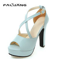Big Size 11 12 With crude Ankle Strap Rubber Cross-Strap Summer new women's sandals women's shoes woman for women platform shoes