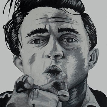 Johnny Cash Painting by Holly Hunt - Johnny Cash Fine Art Prints and Posters for Sale