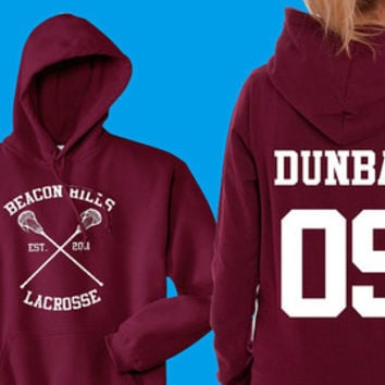 Teen Wolf Hoodie, Beacon Hills Lacrosse Hoodie, Stilinski 24, Teen Wolf Hooded Sweatshirt Size S - 4XL - Lahey, McCall, Hale, Available
