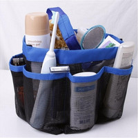 8 Pocket Mesh Bath Shower Caddy Bag Bathroom Multifunctional Storage Organizer Travel Essential