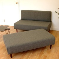 BOKZ SOFA SET love seat and sofa bench by lunarloungedesign
