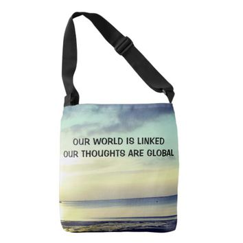 Global Photo Quote by Kat Worth Crossbody Bag
