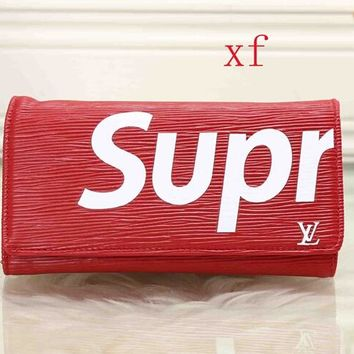 New High Quality LV supreme Leather Wallet Unisex