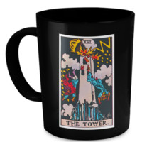 The Tower Tarot Card Coffee Cup Mug towermug