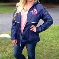 Monogrammed Rain Jacket | Charles River | Throw A Tantrum
